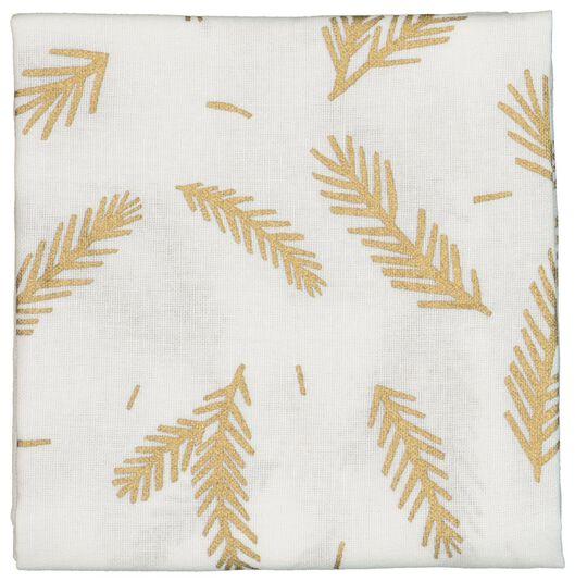 torchon 65x65 coton - blanc avec branche dorée - 5410101 - HEMA
