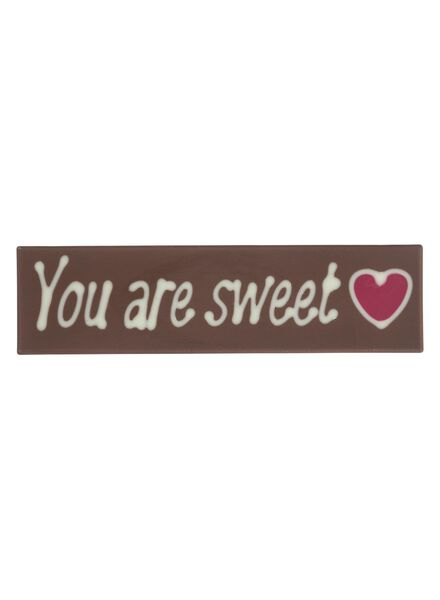 barre chocolat - You are sweet - 10370026 - HEMA