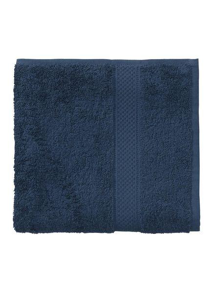 serviette de bain-50x100 cm-qualité épaisse-denim uni denim serviette 50 x 100 - 5240180 - HEMA