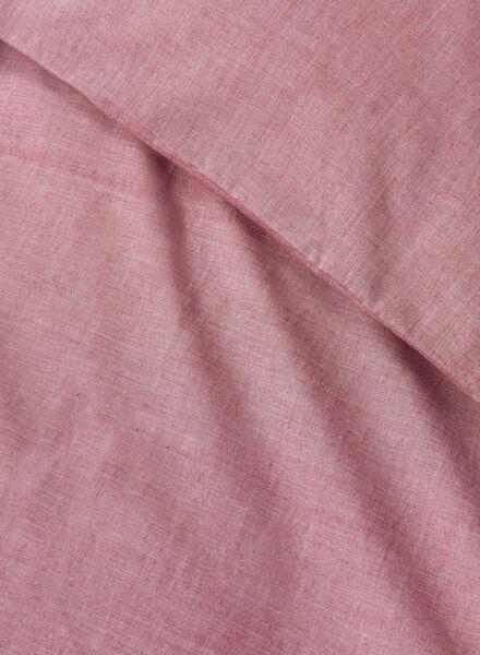 housse de couette-coton chambray-140x200cm-rouge - 5700126 - HEMA