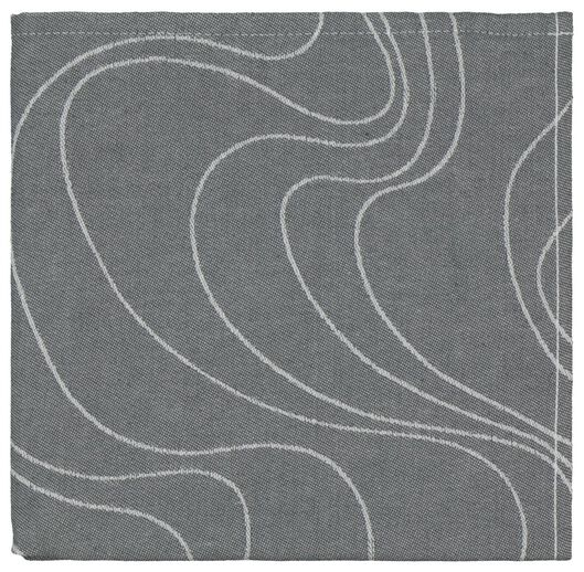torchon - 65 x 65 - coton - gris vagues - 5490038 - HEMA