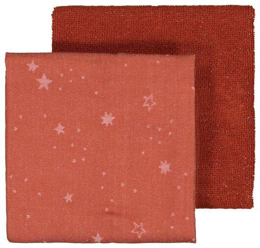Image of HEMA 2 Tea- And Kitchen Towel Stars Terra Cotta