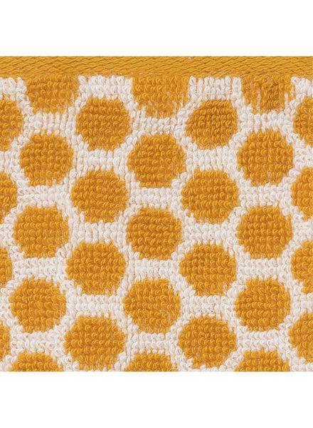 petite serviette - 30x55 cm - qualité épaisse - ocre pois - 5220029 - HEMA