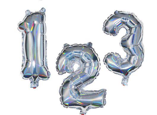 ballon alu chiffres 0-9 holographique argenté argenté - 1000020772 - HEMA