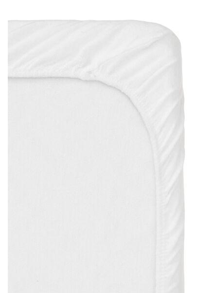 drap-housse surmatelas molleton - stretch - 160x200 cm blanc 160 x 200 - 5100144 - HEMA