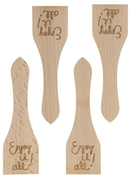 4 spatules en bois 13x4 enjoy - 80810313 - HEMA