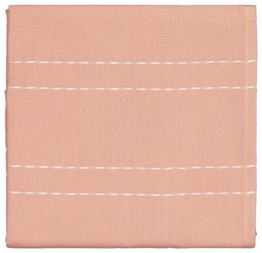 tea towel - 65 x 65 - cotton - orange stripe - 5490035 - hema