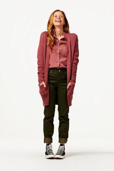 Hosen - HEMA Damen Skinnyhose, Satin Olivgrün  - Onlineshop HEMA