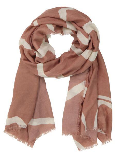 écharpe femme 200x80 zèbre rose - 1780034 - HEMA