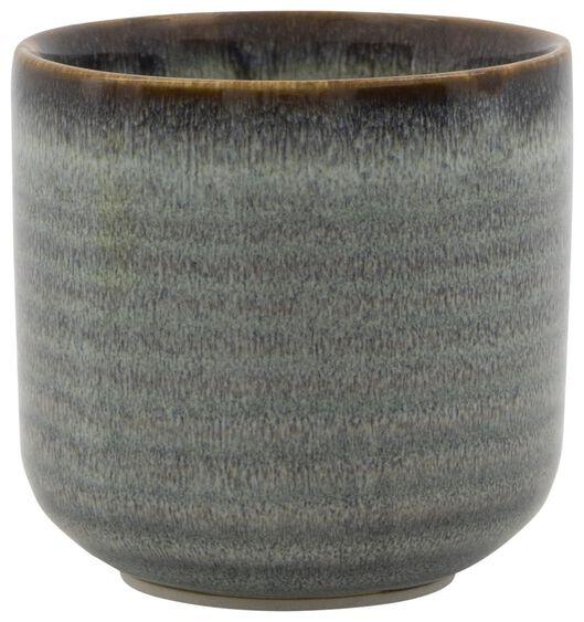 cache-pot Ø7x7 faïence vernis réactif 7 x 7 naturel - 13311043 - HEMA