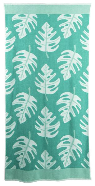 beach towel cotton 90x180 leaf - 5290047 - hema