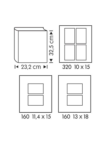 Fotoalbum, 32.5 x 23.2 cm, Blätter - 14634338 - HEMA