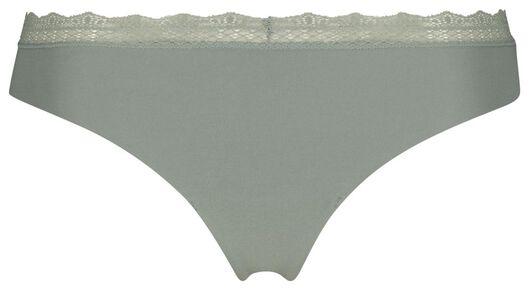women's thong cotton green green - 1000019743 - hema