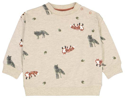 Babyoberteile - HEMA Baby Sweatshirt, Füchse Sandfarben - Onlineshop HEMA