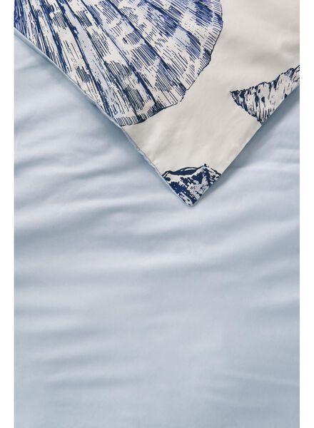 housse de couette hôtel coton satiné 200 x 200 cm blue de mer 200 x 200 - 5710074 - HEMA