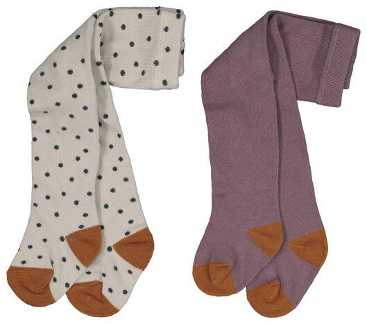 Babyaccessoires - HEMA 2er Pack Baby Strumpfhosen Violett - Onlineshop HEMA