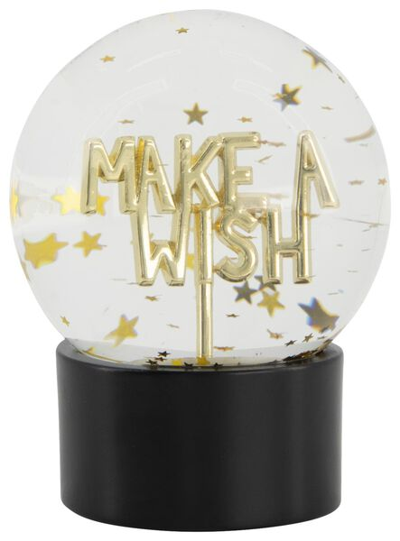 boule à neige Ø8cm - make a wish - 61122850 - HEMA