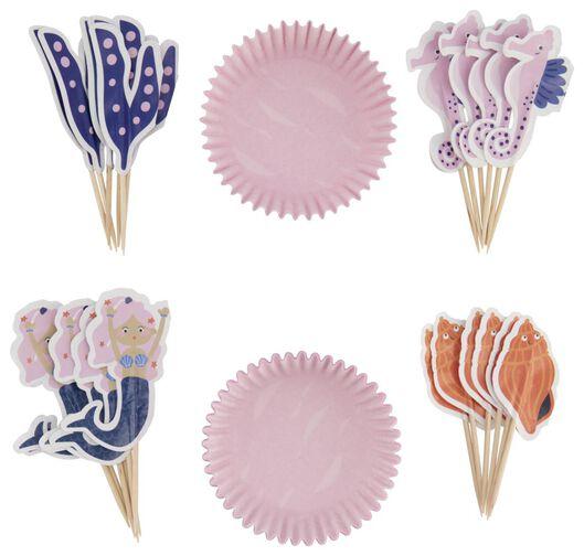 kit pour 24 cupcakes - hippocampe - 14200328 - HEMA