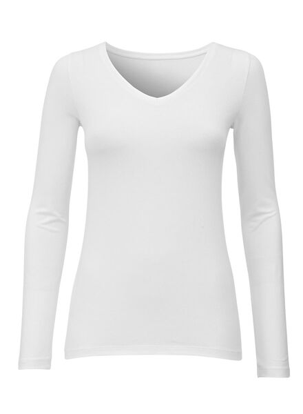 Damen-Shirt weiß weiß - 1000005403 - HEMA
