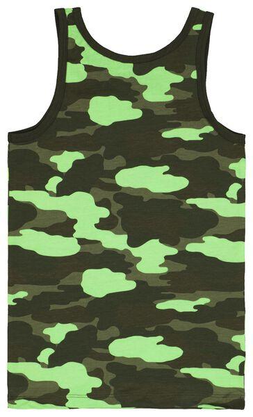 2er-Pack Kinder-Hemden, Tarnflekenmuster dunkelgrün dunkelgrün - 1000022744 - HEMA
