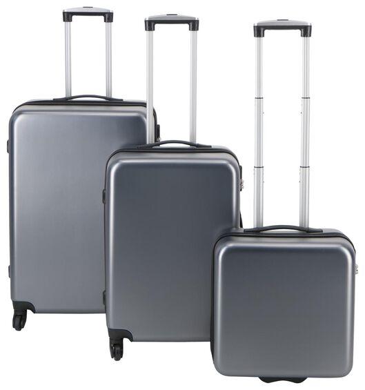 HEMA Koffer, 67 X 44 X 25 Cm, Recyceltes PET, Grau