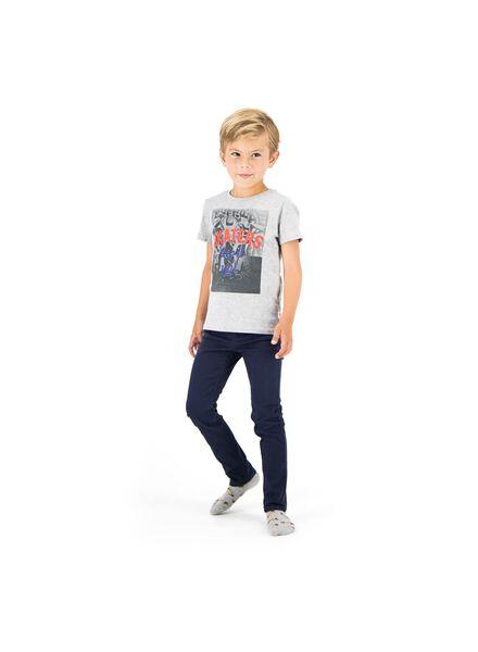 pantalon enfant skinny bleu foncé bleu foncé - 1000014290 - HEMA