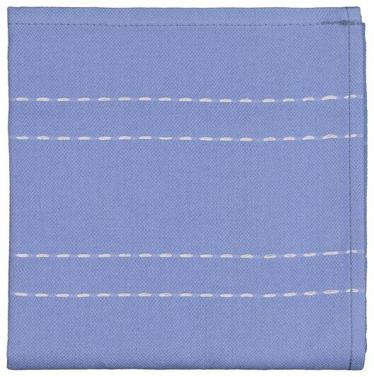 tea towel - 65 x 65 - cotton - blue stripe - 5490037 - hema