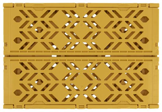 small folding crate recycled 16x24x10 - yellow ochre - 39821060 - hema