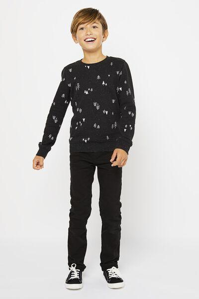 Kinder-Sweatshirt, Bäume schwarz schwarz - 1000021905 - HEMA