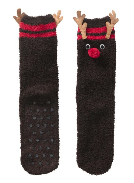 women's house socks reindeer - 4240365 - hema