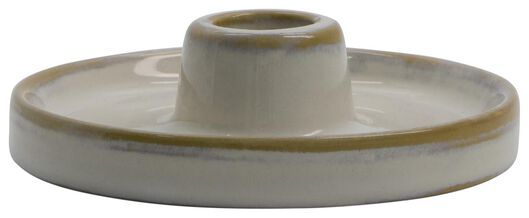 candle-holder low Ø11x3 earthenware white - 13311052 - hema