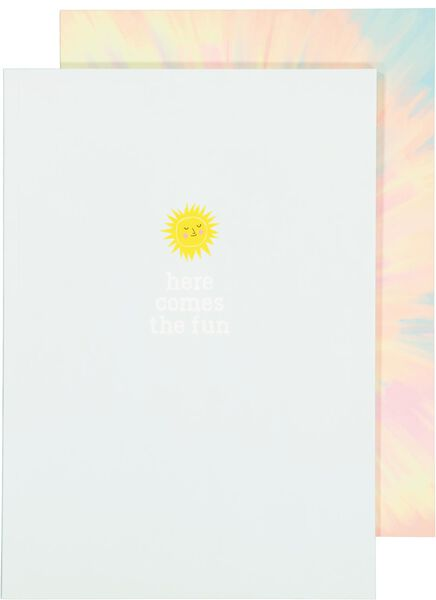 2 cahiers format A4à carreaux 5 mm - 14590314 - HEMA