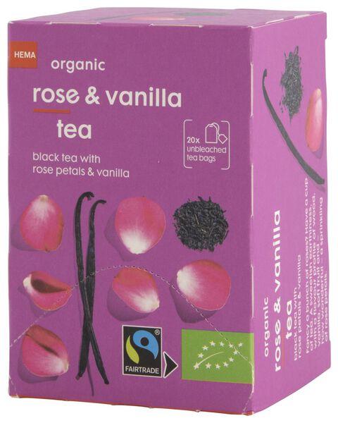 thee bio vanille en rozen 20 stuks - 17190001 - HEMA