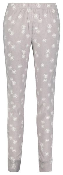 women's leggings fleece grey melange grey melange - 1000017384 - hema
