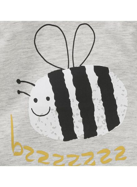 newborn T-shirt grey melange grey melange - 1000005644 - hema
