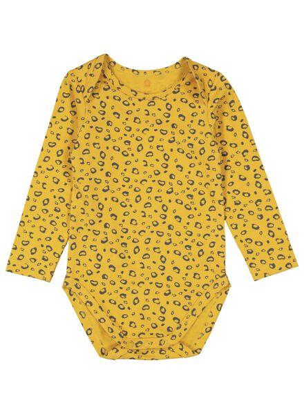 body coton biologique stretch jaune jaune - 1000015321 - HEMA