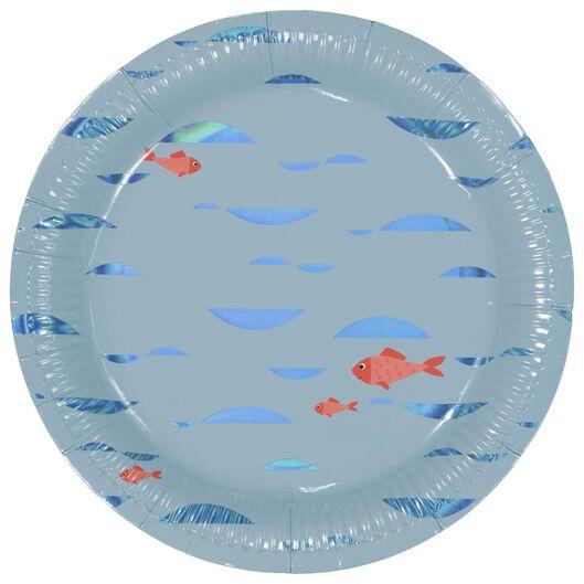 8 assiettes en papier - Ø22.5 cm - sous-marin - 14200320 - HEMA