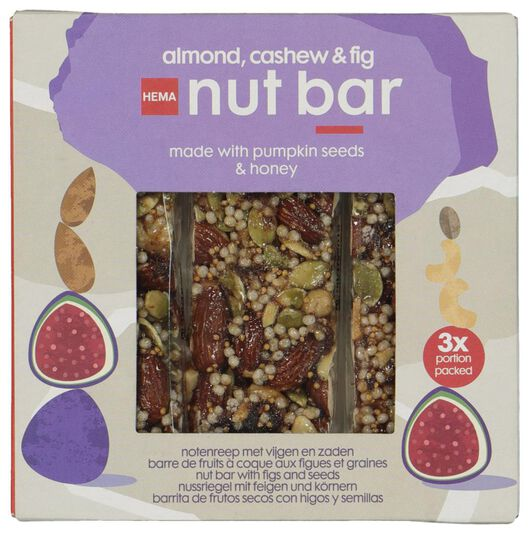 nut bars with figs and seeds - 10850002 - hema