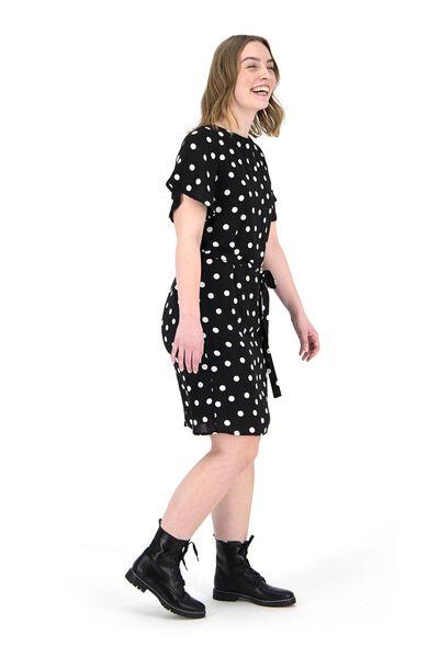 women's dress black/white black/white - 1000019195 - hema
