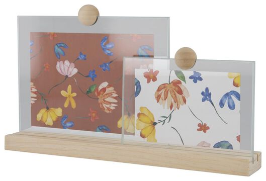cadre photo bois/verre pour 2 photos - 13611050 - HEMA