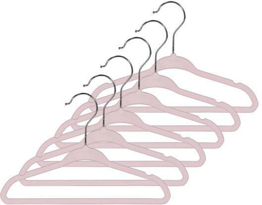 6 cintres enfant-velours rose - 39821004 - HEMA