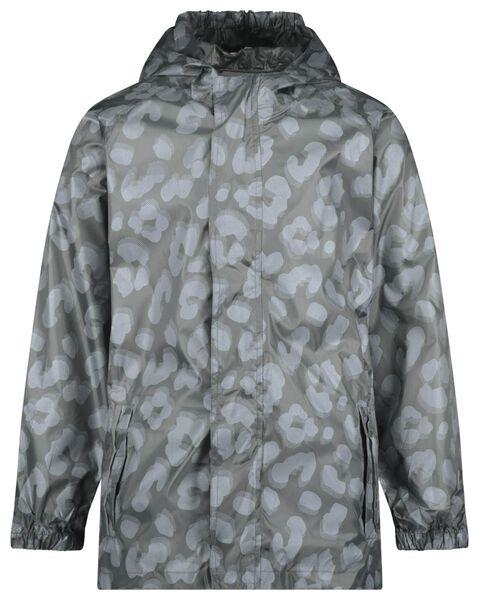 Kinder-Regenjacke, faltbar, Leopardenmuster grau grau - 1000022427 - HEMA
