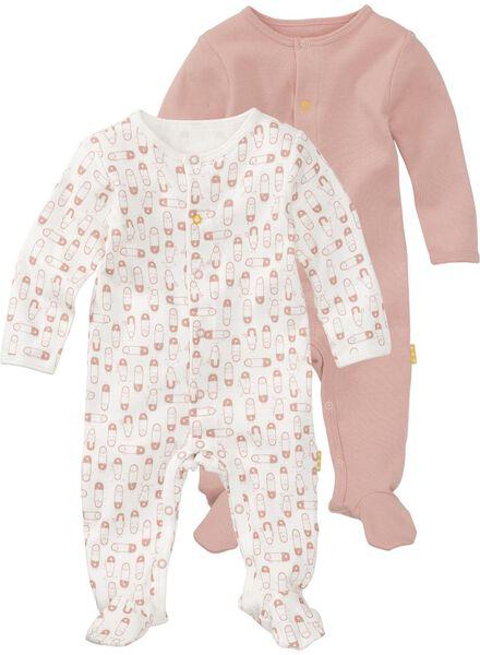 HEMA 2er Pack Newborn Jumpsuits Aus Biologischer Baumwolle