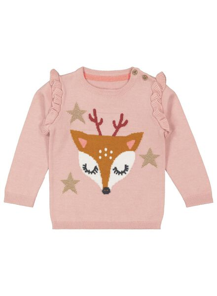 baby sweater light pink light pink - 1000017303 - hema