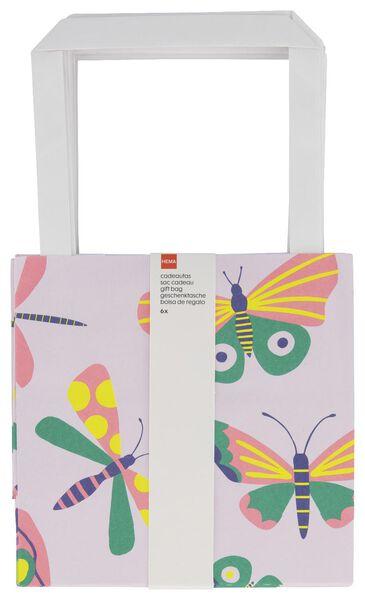 cadeautasjes 7x13x13 vlinder - 6 stuks - 14700477 - HEMA