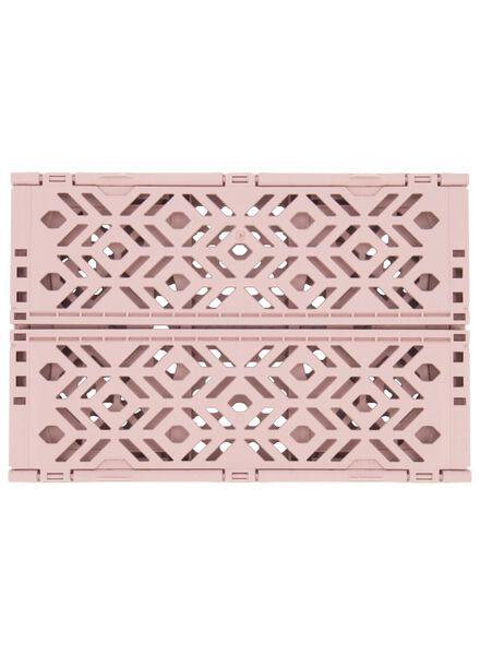 folding crate recycled - 24 x 16 x 9.5 cm - pink pink 24 x 16 x 9,5 - 39892903 - hema