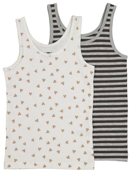 2er-Pack Kinder-Hemden, Glitter schwarz schwarz - 1000020647 - HEMA