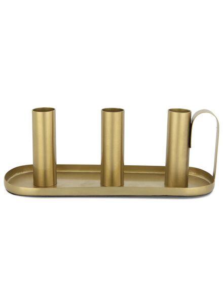 candle-holder 8.3x22.2x2.3 cm - gold - 13392048 - hema