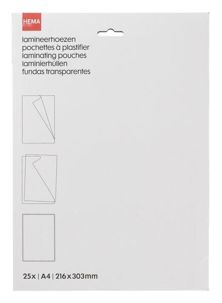 25er-Pack Laminierhüllen, DIN A4 - 38370020 - HEMA