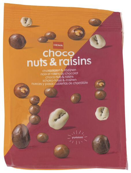 chocolate nuts and raisins - 150 grams - 10380030 - hema